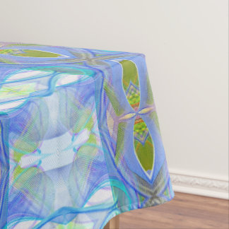 fractal blue ethnic pattern. tablecloth