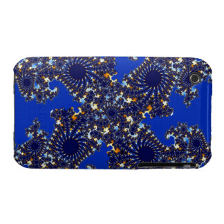 Fractal Blue Gold Kaleidoscope iPhone 3 Cover