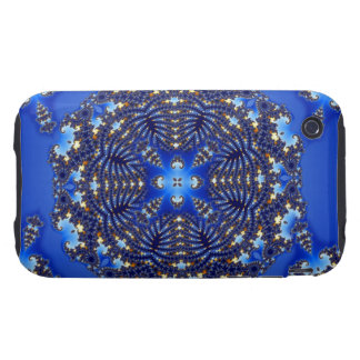 Fractal Blue Snowflake Tough iPhone 3 Cover
