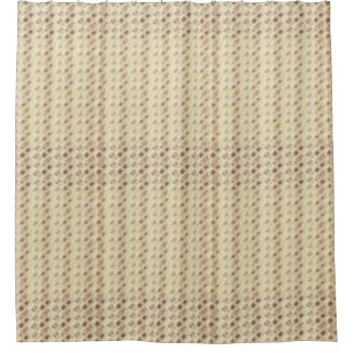 Fractal Brown and Tan Beaded Print Shower Curtain