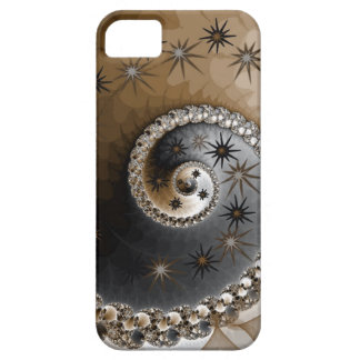 Fractal Brown & Black Design IPhone5 Case Barely There iPhone 5 Case