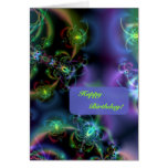 Fractal Butterflies Happy Birthday Greeting Card