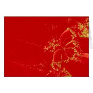 Fractal butterfly card