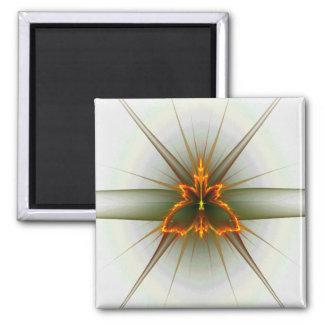 Fractal Butterfly (Choose Background Color) Magnet