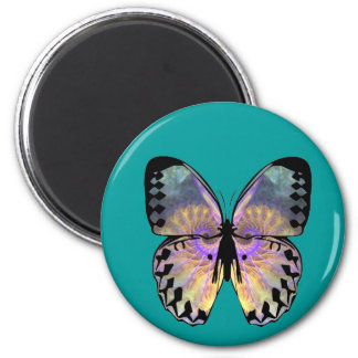 Fractal butterfly Round  Magnet