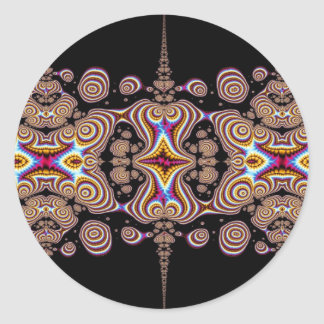 Fractal Buttons Classic Round Sticker