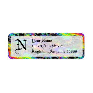 Fractal C~05 Monogram Avery Return Address Labels