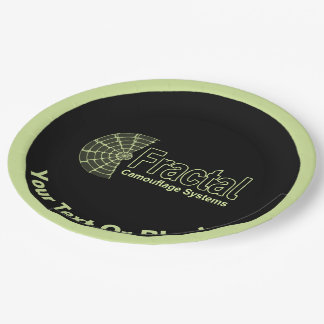 Fractal Camouflage Systems Logo 9 Inch Paper Plate