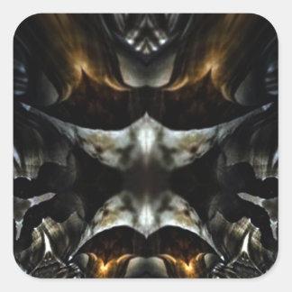 fractal canyon symmetry square sticker