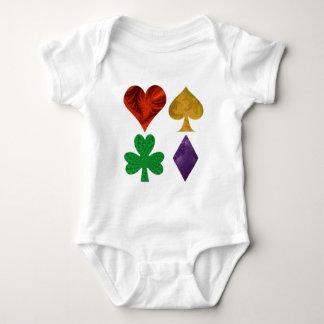 Fractal Card Suits Baby Bodysuit