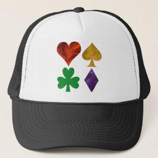 Fractal Card Suits Trucker Hat