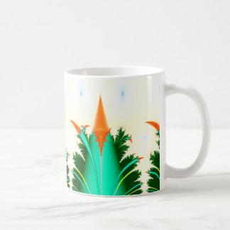 fractal carrot corn coffee mug