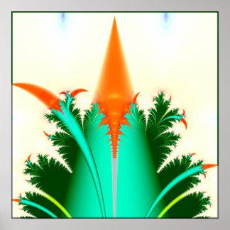 fractal carrot corn poster