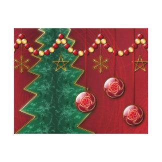 Fractal Celebration Christmas Canvas Print