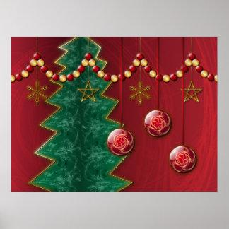 Fractal Celebration Christmas Print