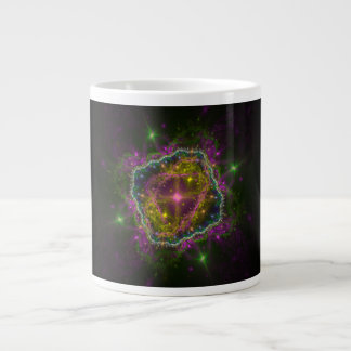 "Fractal ""Celestial Light Show"" Large Coffee Mug"