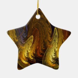 Fractal Ceramic Star Decoration