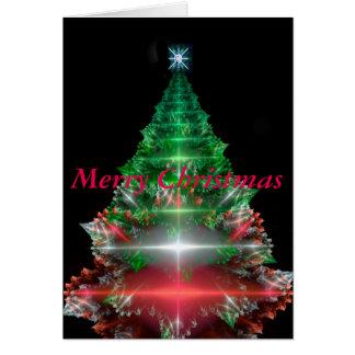 fractal Christmas tree Card