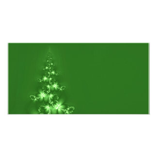 Fractal Christmas tree Custom Photo Card