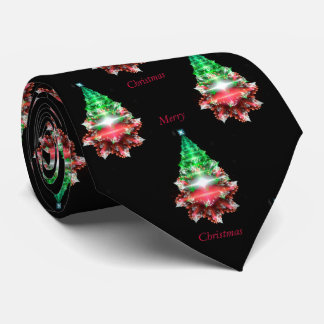 Fractal Christmas Tree. Merry Christmas. Tie