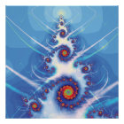 Fractal Christmas Tree Poster