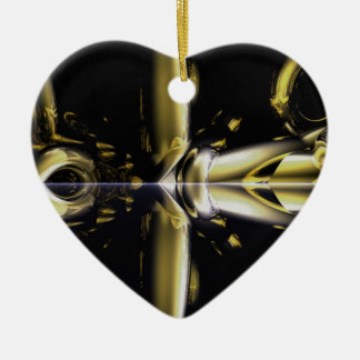 Fractal collection ceramic heart decoration