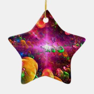 Fractal collection ceramic star decoration