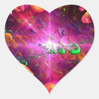 Fractal collection heart sticker