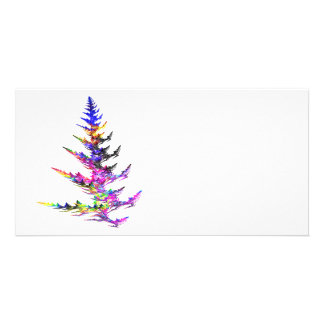 Fractal - Colorful Christmas Tree Customized Photo Card