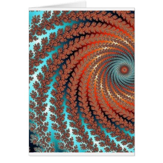 Fractal Colour Image Card