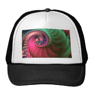 fractal Coloured  Spirals. Cap