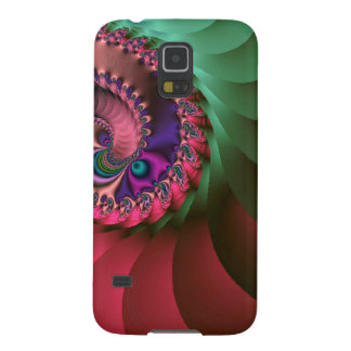 fractal Coloured  Spirals. Cases For Galaxy S5