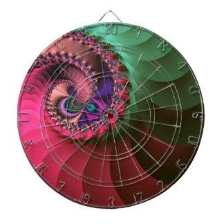fractal Coloured  Spirals. Dartboard