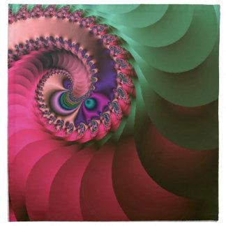 fractal Coloured  Spirals. Napkin