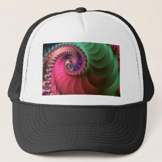 fractal Coloured  Spirals. Trucker Hat