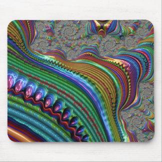 fractal colourful ripple art mouse mat