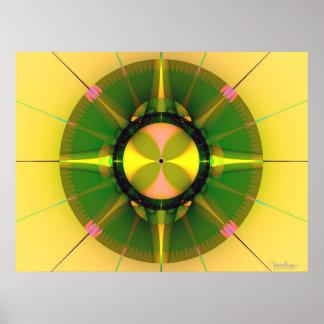 Fractal Compass Poster