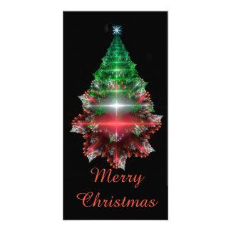 "Fractal ""Crystal Christmas Tree"" Card"