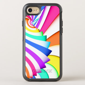 Fractal Curved Stripes OtterBox Symmetry iPhone 7 Case