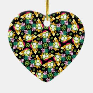 Fractal Elegance Ceramic Heart Decoration