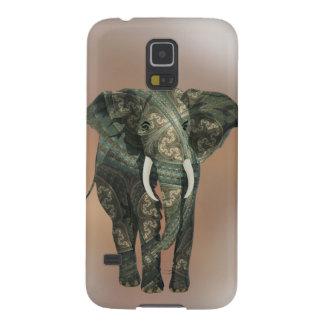 Fractal Elephant Galaxy S5 Cases