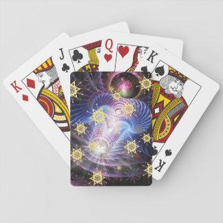 Fractal Energy burst Playing Cards