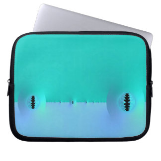 Fractal Farm in Blue & Turquoise Laptop Sleeve