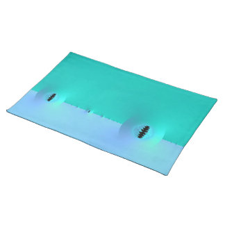 Fractal Farm in Blue & Turquoise Placemats