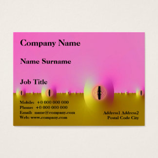 Fractal Farm in Pink and Gold Chubby Business Card