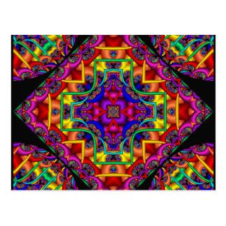 Fractal Fascination Kaleidoscope Postcard