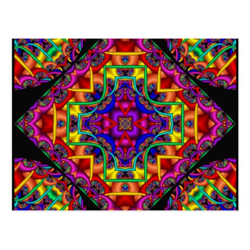 Fractal Fascination Kaleidoscope Postcards