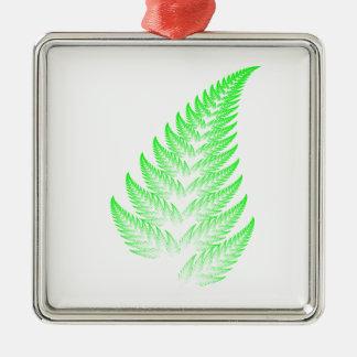 Fractal fern leaf christmas ornament