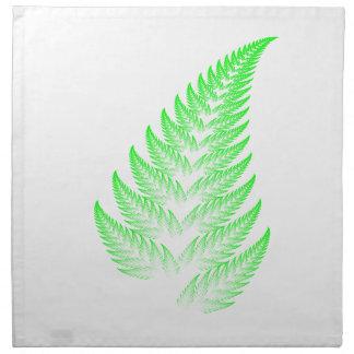 Fractal fern leaf napkin