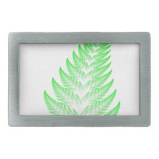 Fractal fern leaf rectangular belt buckle
